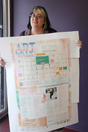 Kelaine Devine is excited about all of the activities happening for Arts Day this year. Photo by Richard Amery