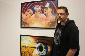 C Blake Evernden explores movie posters for his new exhibit at Casa. photo by Richard Amery