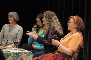 Jocelyn Steinborn (centre) performing in the one Act Play Festival last year. Photo by Richard Amery