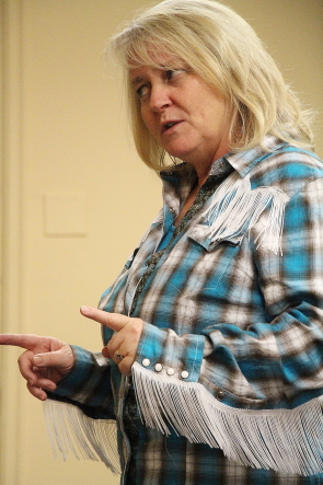 Jane Meaker rehearses for the Savannah Sipping Society, running Oct. 17-21 at Country Kitchen. Photo by Richard Amery