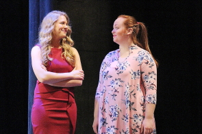 Sharayah Paulson and Zoë Bracken  are part of When There's nothing Left to burn on stage at the University Theatre, Nov. 7-11. Photo by Richard Amery